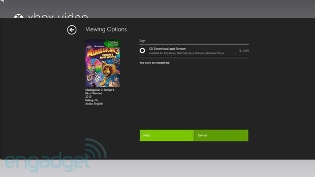 Windows 8 defaults direct cash payments for music and movies, puts Microsoft Points on backburner