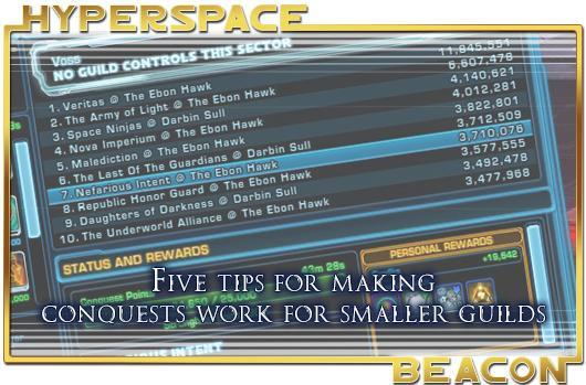 Hyperspace Beacon: Five tips for making SWTOR conquests work for smaller guilds