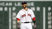 Red Sox players erect perfect Fenway Park tribute to Dustin Pedroia
