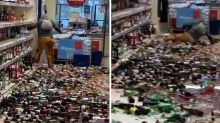 Woman shatters hundreds of bottles of alcohol inside Stevenage supermarket