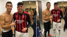 Cristiano Ronaldo's Snap in the Dressing Room Photobombed by a Naked Juventus Teammate Giorgio Chiellini