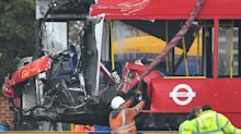 Man arrested after bus driver killed and 15 people injured in crash involving two buses