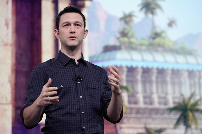 LOS ANGELES, CA - JUNE 11:  Joseph Gordon-Levitt, Actor and Creater at HitRecord, speaks about 'Beyond Good and Evil 2' during the Ubisoft E3 conference at the Orpheum Theater on June 11, 2018 in Los Angeles, California. The E3 Game Conference begins on Tuesday June 12.  (Photo by Christian Petersen/Getty Images)
