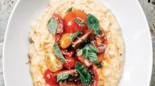 Smoky Corn Farina with Tomato Salad from'The New Mediterranean Table'