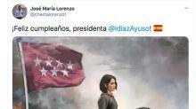 Un asesor del Gobierno de Madrid la lía al compartir un montaje de Ayuso como Agustina de Aragón y rodeada de muertos