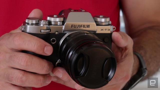 Fujifilm X-T3 camera update adds advanced gimbal controls