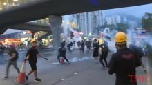 Hong Kong Police Fire Tear Gas at Protesters as Marchers Defy Ban