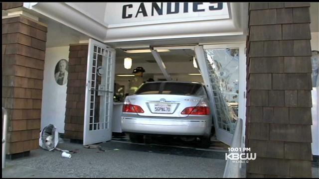 Collision Sends Car Crashing Into Pleasant Hill Candy Store