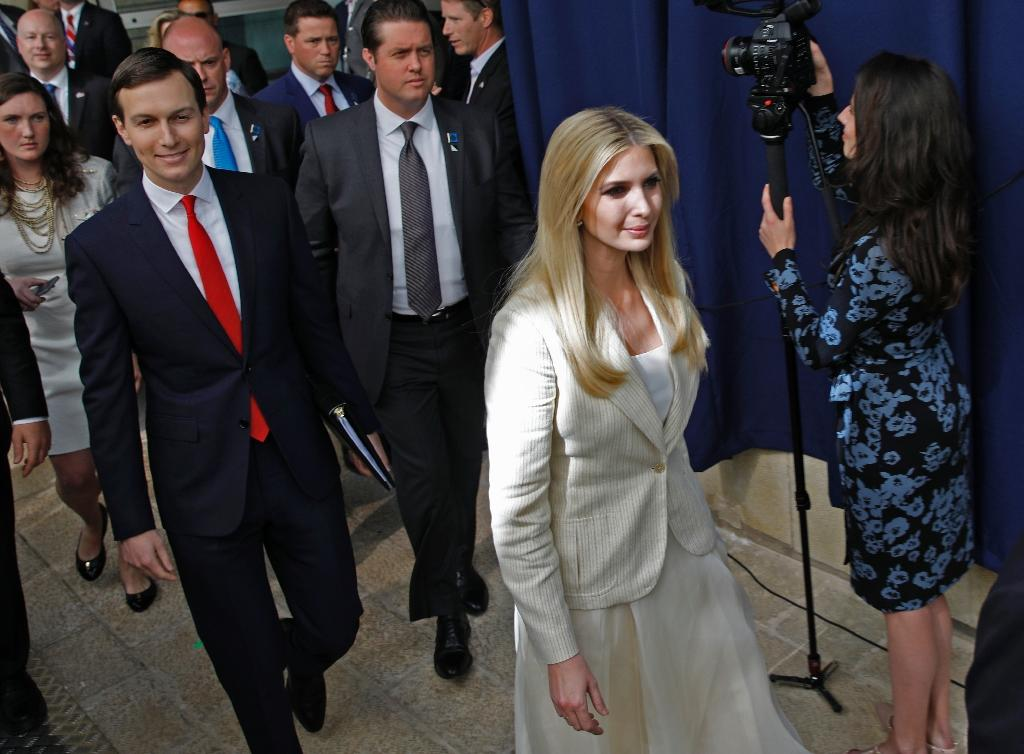 US President's daughter Ivanka Trump and her husband Senior White House Advisor Jared Kushner arrive for the controversial inauguration of the US embassy in Jerusalem on May 14, 2018