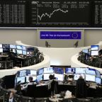 Trade war fears hamper European stocks, weak pound buoys FTSE