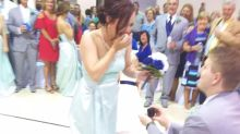 Outrage as groomsman hijacks wedding with dance-floor proposal