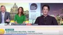 Piers Morgan left 'speechless' by gender neutral child-raising debate