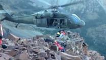 Blackhawk Helicopter Pulls Rocky Mountain Climber to Safety