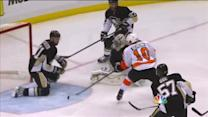 Schenn cleans up rebound after Fleury's save