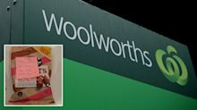 'Made my day': Woolworths shopper finds sweet note in delivery order