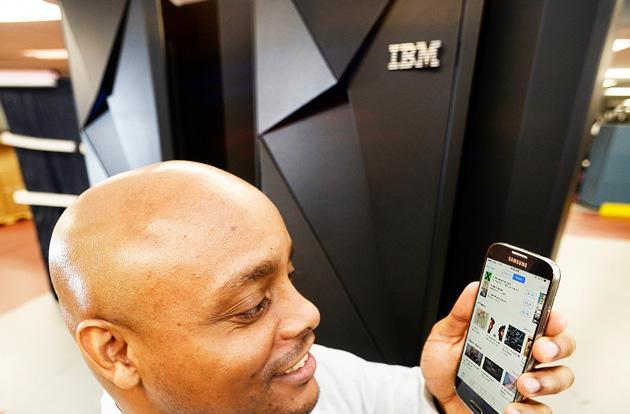 IBM's monster mainframe is built to handle your mobile shopping