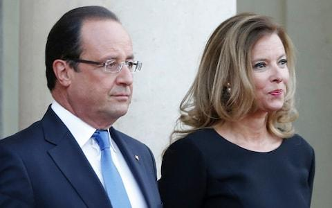 French president Francois Hollande and his companion Valerie Trierweiler - Credit:  Jacques Brinon/AP