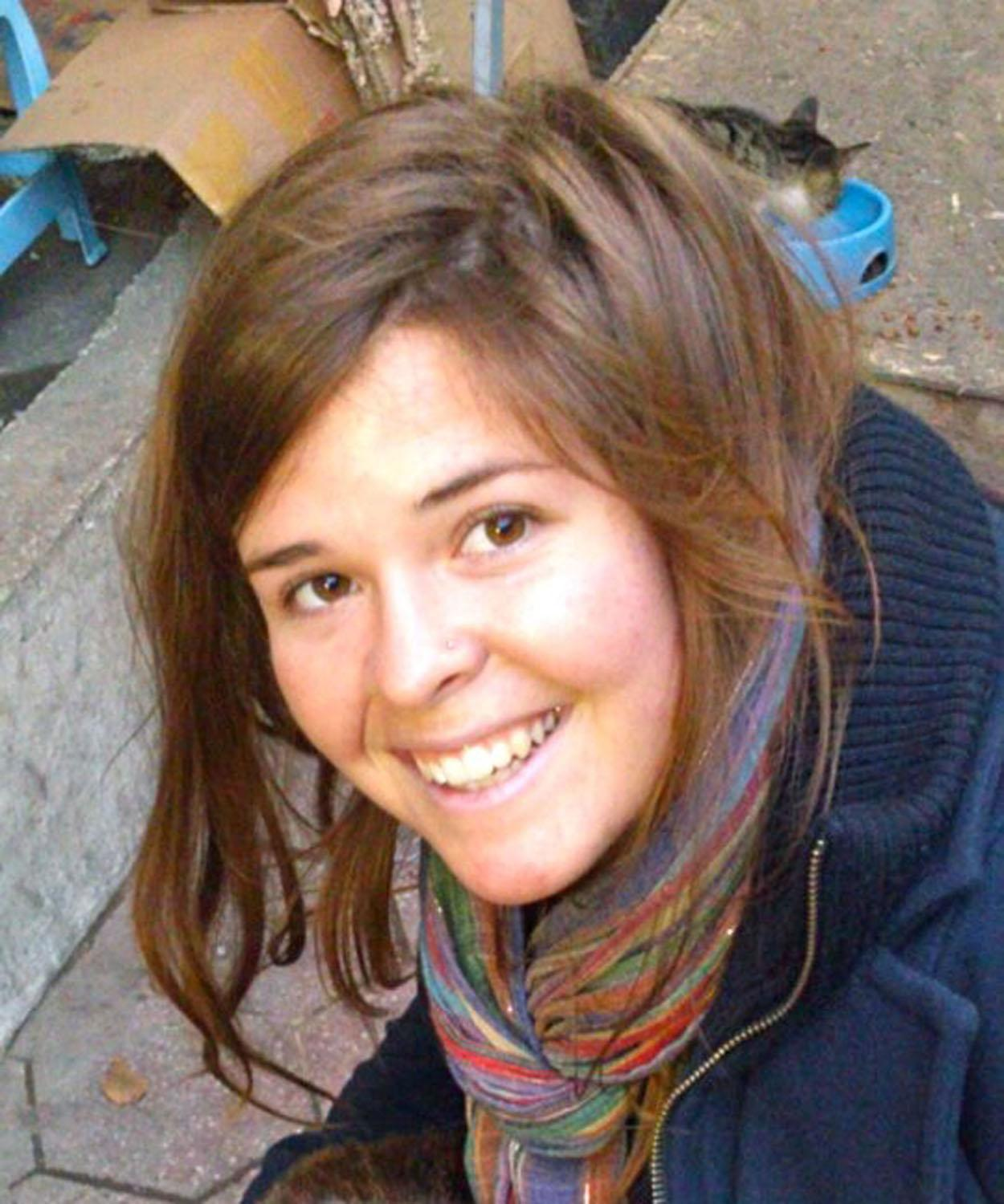 This undated handout photo courtesy of the Mueller family and the office of US Senator John McCain shows Kayla Mueller, who died as a hostage of IS jihadists (AFP Photo/)