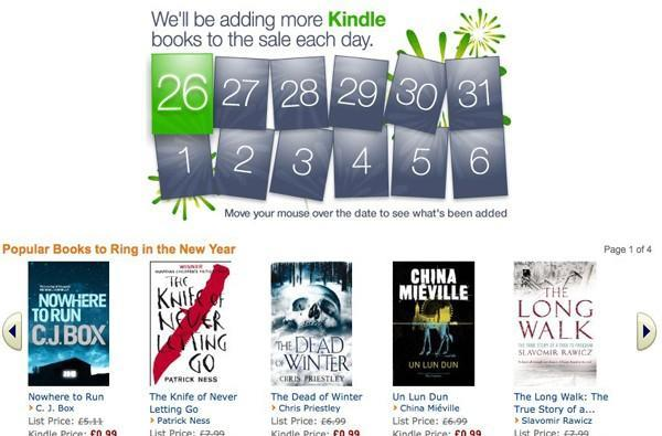 Amazon UK opens its doors for the Christmas sales, adds hundreds of Kindle books from 99p