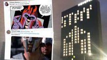 Coronavirus: Melbourne hotel's bizarre 'stay home' sign baffles