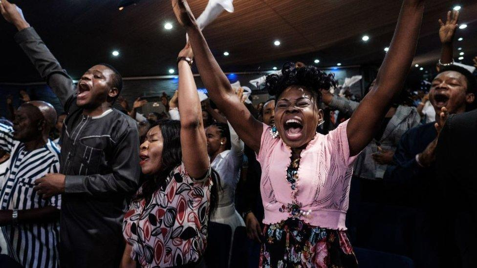 Coronavirus: Nigeria's mega churches adjust to empty auditoriums - yahoo