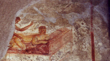 Wall paintings in Pompeii brothel reveal 'menu' of sex services on offer