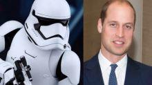 El príncipe William se quejó de que lo eliminaran del metraje de Star Wars (¡y lo estaban grabando!)