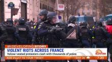 Violent riots continue in Paris