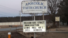 'Heaven has strict immigration laws, hell has open borders': Community riled up by church marquee message