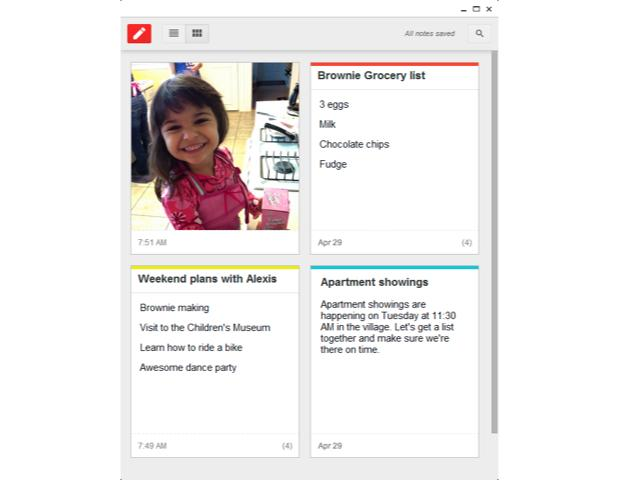 Google Keep now available in the Chrome Web Store
