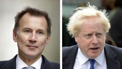 Johnson and Hunt fight for British PM job