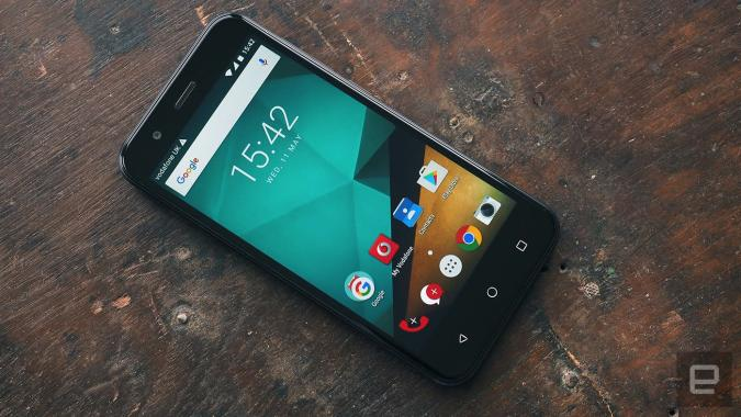 Vodafone's own-brand handsets are new, not very improved