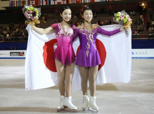 花滑世青賽 日本女單包辦第2第3 (圖).