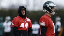 Eagles QB Carson Wentz, who has a fractured vertebra, officially listed as doubtful