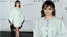 Paris Fashion Week: Maisie Williams, protagonista en el 'front row' de Givenchy