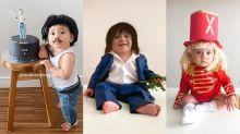 Esse bebê se fantasia de famosos para comemorar os 'mesversários'