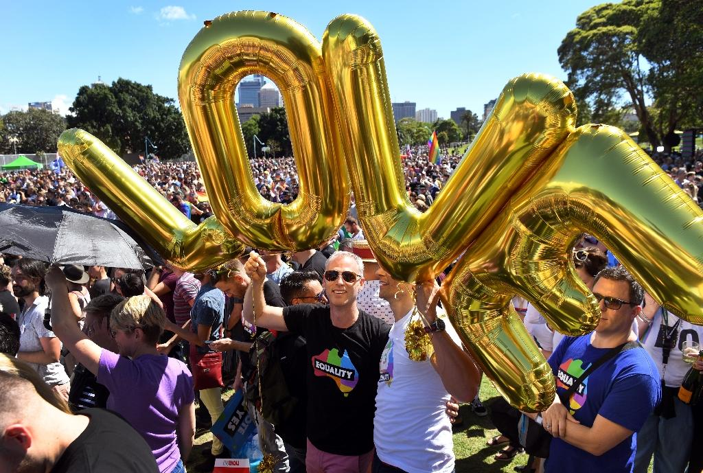 Australia changed it laws to legalise gay marriage in 2017 (AFP Photo/WILLIAM WEST)