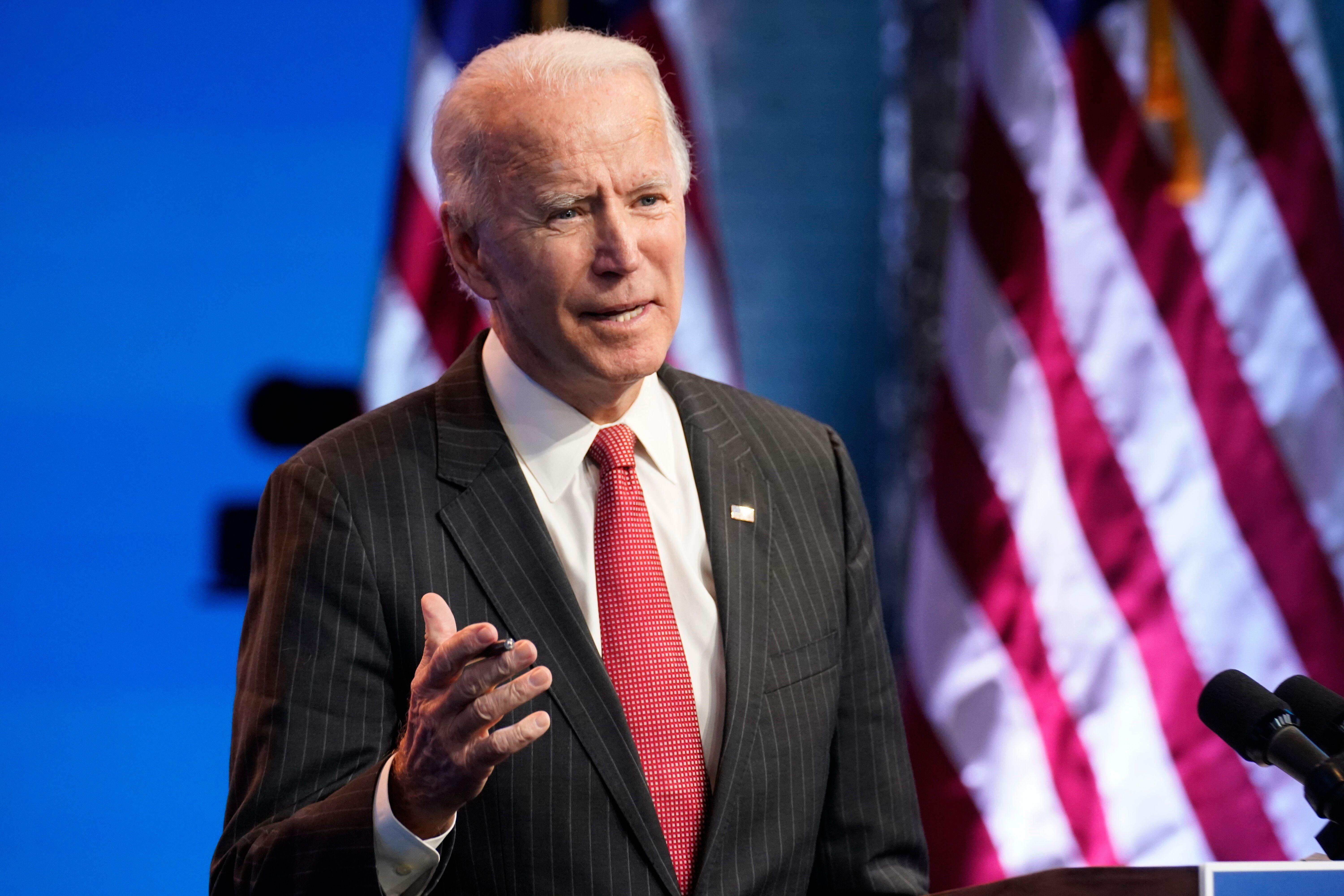 Biden on board with push for large relief bill: Spokesman