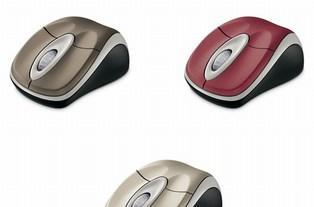 Microsoft's Wireless Notebook Optical Mouse 3000: now in more delicious hues