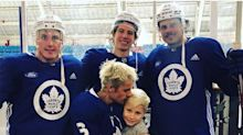 Justin Bieber Hits Hockey Rink with Brother Jaxon and Maple Leafs Stars — and Drake Is Jealous