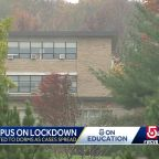 College campus in Worcester on lockdown