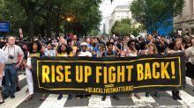 'Unite the Right' marchers a few – anti-fascists a many