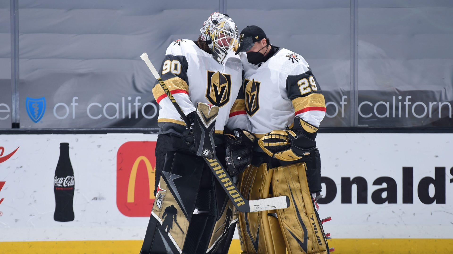 Golden Knights goal support differs for goaltenders