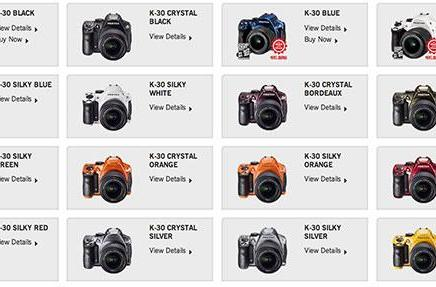 Pentax K-30 DSLR adds 15 new color options, gets both matte and gloss finishes
