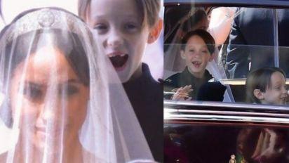 【牙擦Twins大起底】拉梅根裙擺雙胞胎花童最矚目,媽媽是梅根好友,爸爸與加拿大總理有關?
