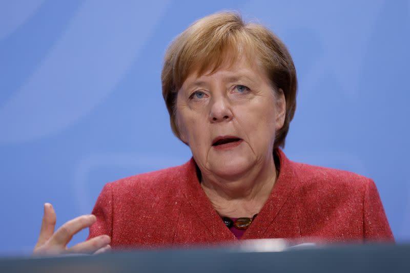 Germany's Merkel says she is very worried about pandemic in Berlin