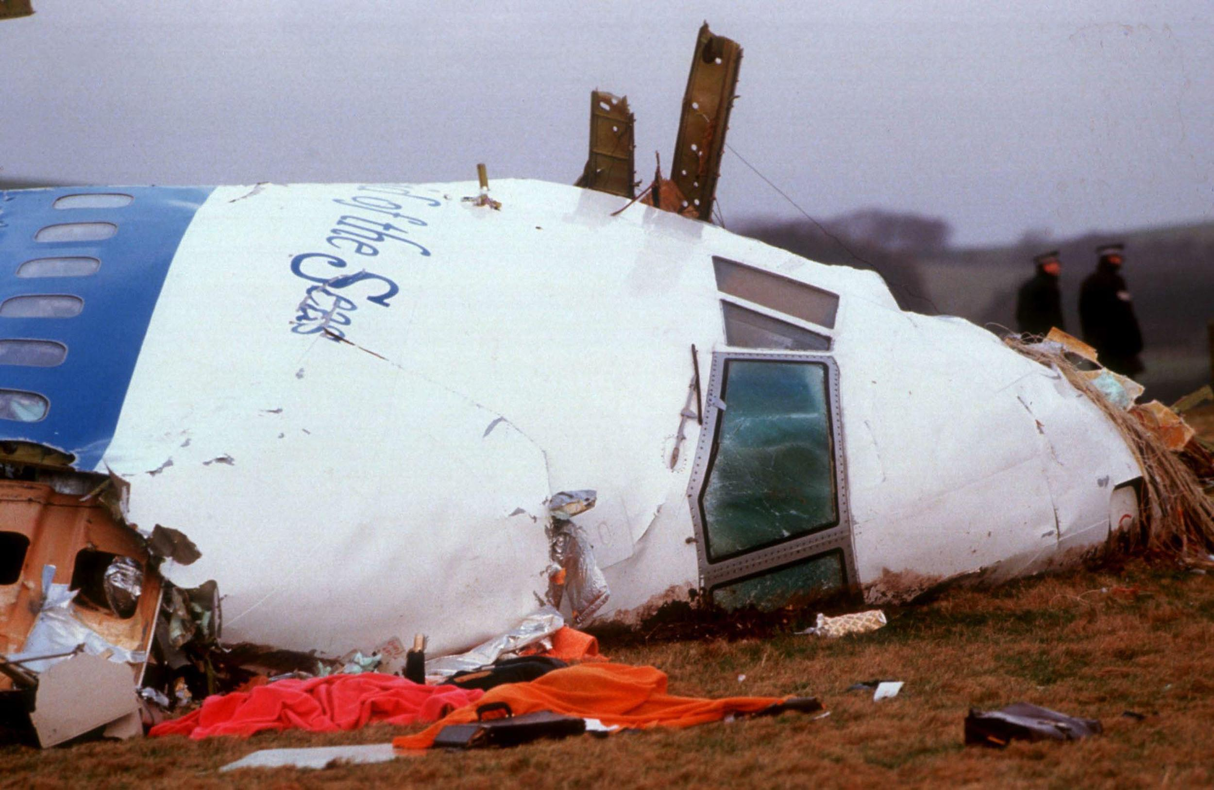 LOCKERBIE, SCOTLAND - DECEMBER 21, 1988:  (FILE PHOTO) Officials inspect the wreckage of Pan Am flight 103 December 21, 1988 in Lockerbie, Scotland. Convicted terrorist Abdelbaset ali al-Megrahi, has been serving a life sentence for the 1988 Pan-AM flight 103 Lockerbie bombing, which killed 270 people. Megrahi, who is terminally ill with prostate cancer has served eight years of a life sentence, and following the decision today, August 20, 2009 has been released on compassionate grounds to go home to spend his remaining days with his family in Libya.(Photo by Georges De Keerle/Getty Images)