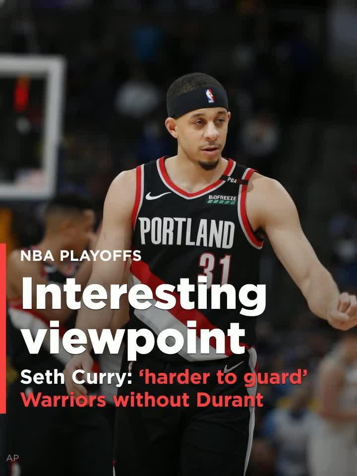 cc5c693fcf4 Seth Curry says the Warriors are  harder to guard  when Kevin Durant is not  on the court  Video