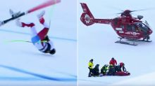 Skiing star in intensive care after horrifying crash
