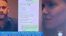 Record divulga celular de Neymar durante reportagem sobre acusação de estupro